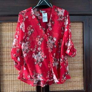 KUT from the kloth red blouse. Nwt
